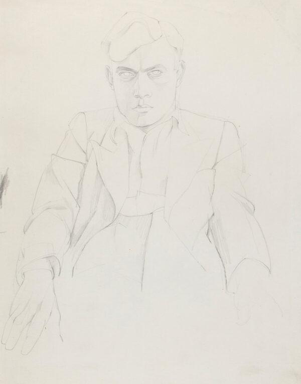 MINTON John (1917-1957) - Seated Man.