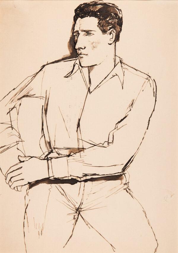 MINTON John (1917-1957) - Study of a seated man.
