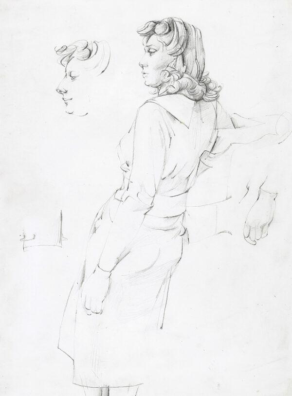 MINTON John (1917-1957) - Leaning Girl.