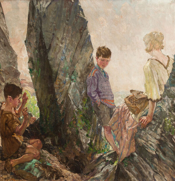 MOIRA Gerald (1867-1959) - 'Ferreting'.