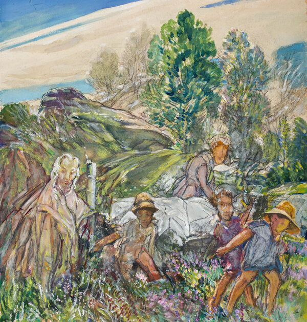 MOIRA Gerald (1867-1959) - A country picnic.