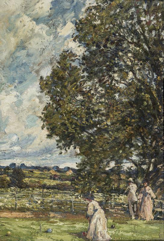 MOIRA Gerald P.R.I. (1867-1959) - The Croquet lawn.
