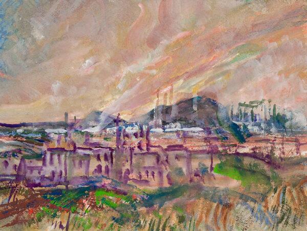 MOIRA Gerald V.P.R.W.S. (1867-1959) - Industrial landscape.