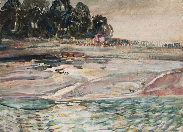 MOIRA Gerald P.R.I. (1867-1959) - A river's bank.