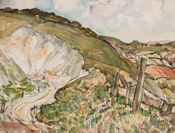MOIRA Gerald P.R.I. (1867-1959) - Chalk pit, probably on the South Downs.