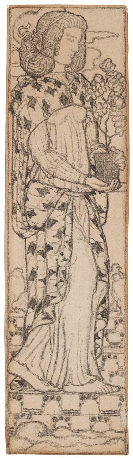 MOIRET Edmund Odon (1883-1966) - Girl and plant.