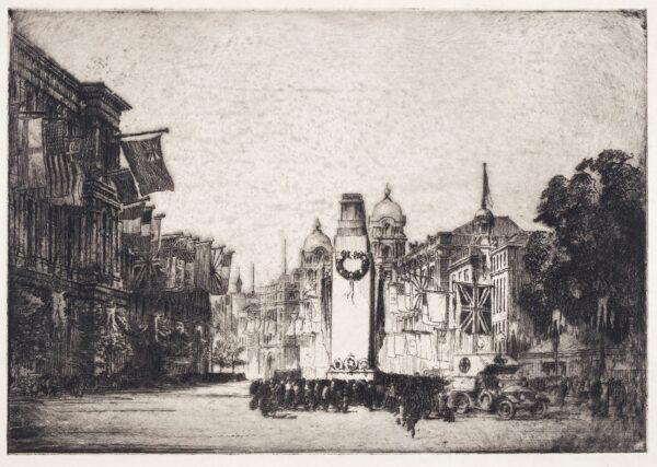 MONK William R.E. (1863-1937) - The Temporary Cenotaph, Whitehall.