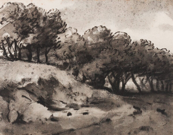 MONRO Dr Thomas (1759-1833) - A line of trees.