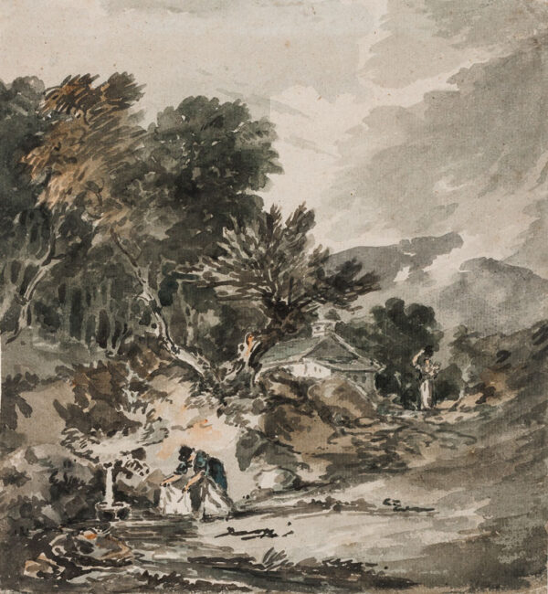 MONRO Dr Thomas (1759-1833) - Cottagers at a stream.