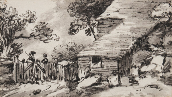 MONRO Dr Thomas (1759-1833) - Farm buildings and figures.