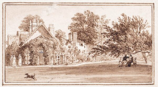 MONRO School (1827) - 'Bushey, Herts / Cottage Orné of Dr Monro's / September / 1827'.