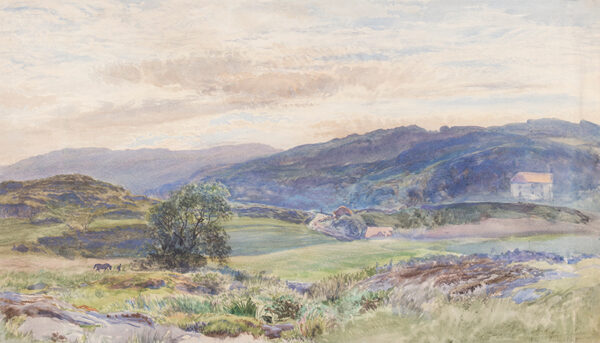 MOORE Henry R.A. R.W.S. (1831-1895) - Exmoor landscape.