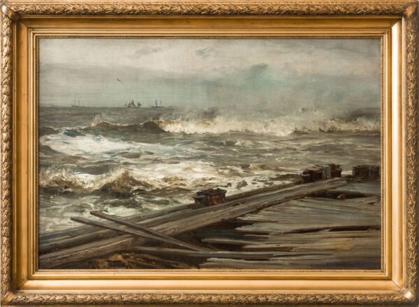 MOORE Henry R.A. (1831-1895) - 'After a Gale, Walberswick'.