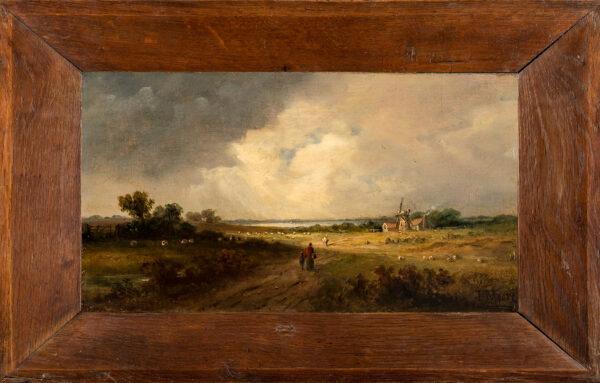 MOORE John, of Ipswich (1821-1902) - Landscape near Ipswich, possible the distant Orwell.