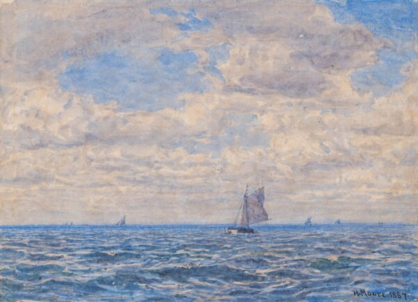 MOORE Henry R.A. R.W.S. (1831-1895) - Fishing boats off-shore.