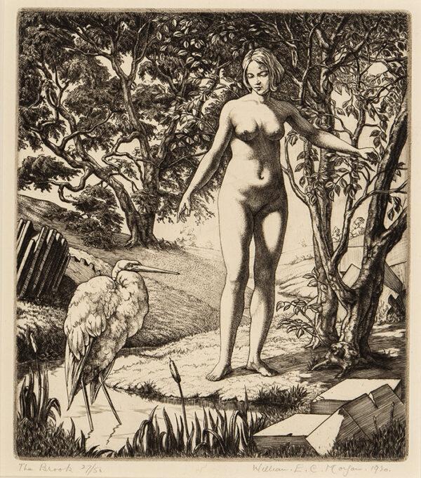 MORGAN William E. C. (1903-1979) - 'The Brook'.
