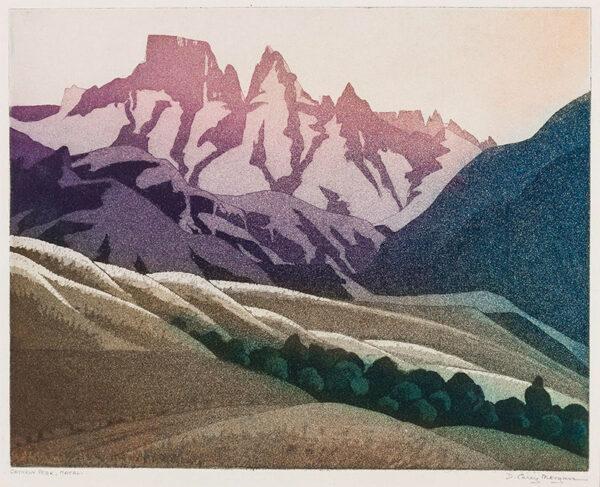 MORGAN Miss D. B. Carey (Exh.1909-1939) - 'Cathkin Peak, Natal'.