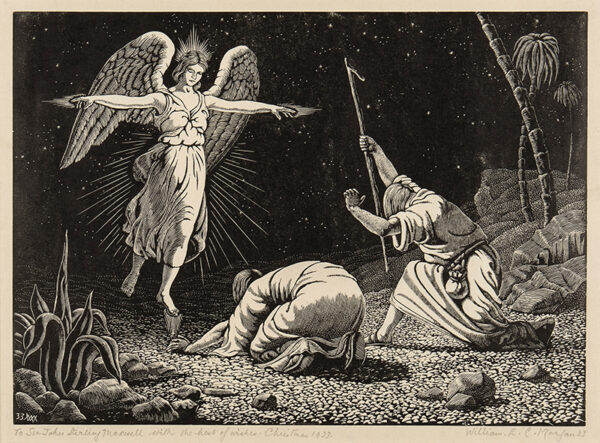 MORGAN William E .C. (1903-1979) - 'And Lo, the Angel of the Lord Came unto Them'.