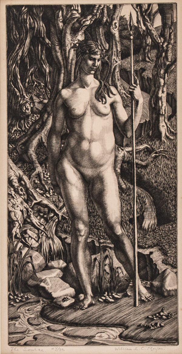 MORGAN William Evan Charles (1903-1978) - 'The Source'  Engraving.