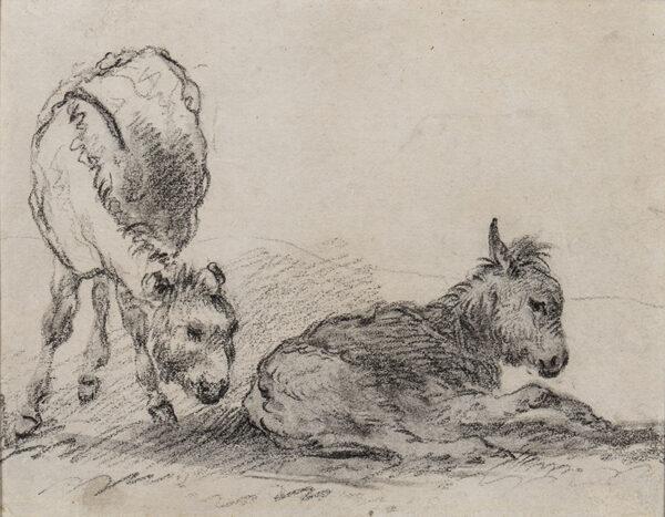 MORLAND George (1763-1804) - Donkey foals.
