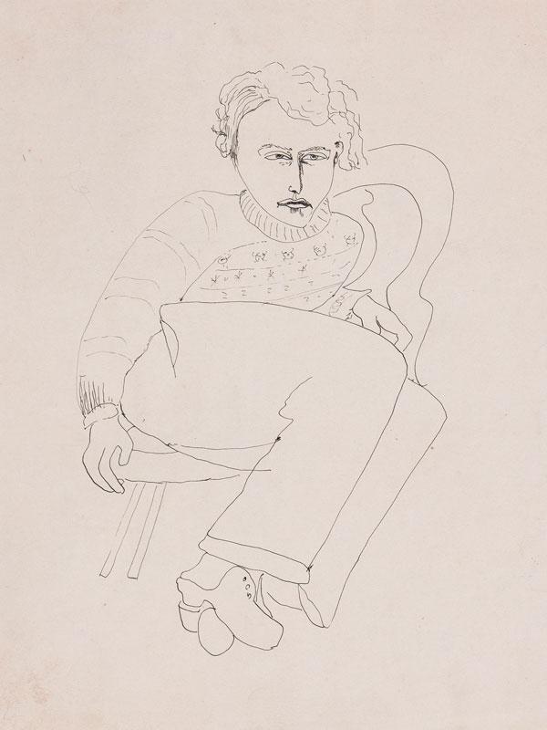 MORRIS Sir Cedric (1889-1982) - Portrait of Lucian Freud.