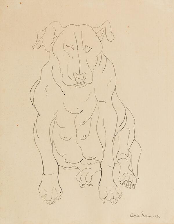 MORRIS Sir Cedric (1889-1982) - Nancy Morris's bull dog.