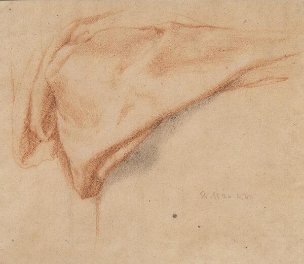 MULREADY William (1786-1863) - Drapery study.