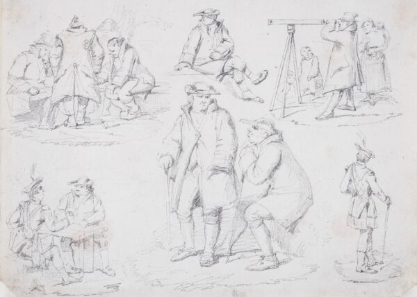 MULREADY William R.A. (1786-1863) (Circle of) - Composition studies.