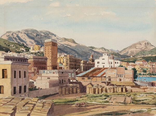 MUNCASTER Claude R.W.S.  S.M.A (1903-1974) - 'Evening in Salerno'.