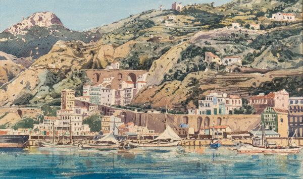 MUNCASTER Claude (1903-1974) - 'Salerno from the Sea'.
