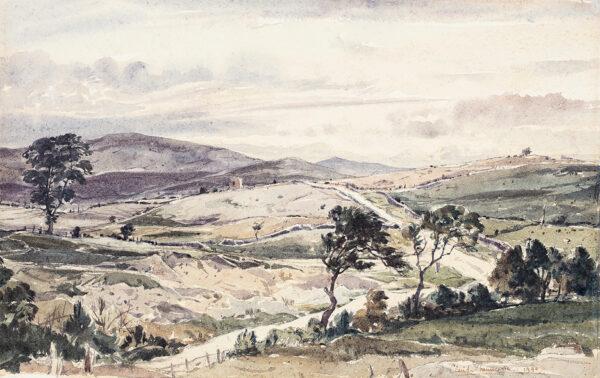 MUNCASTER Claude R.W.S. S.M.A. (1903-1974) - 'Moorland road to Llangollen'.