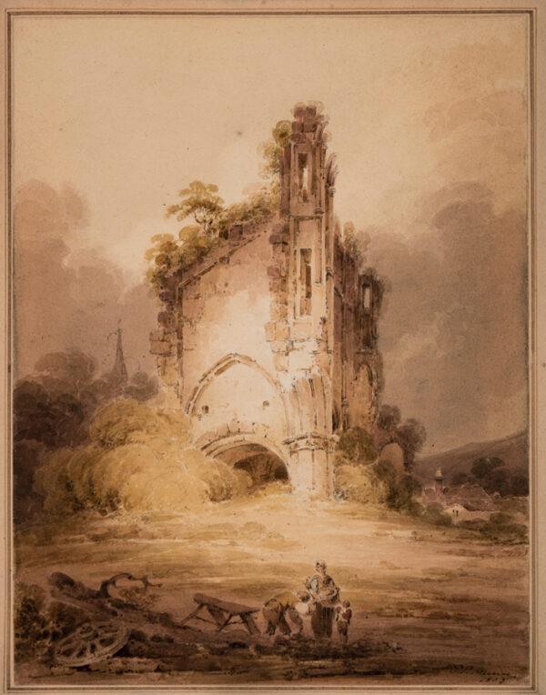 MUNN Paul Sandby (1773-1845) - 'Part of Wenlock Priory / Shropshire'.