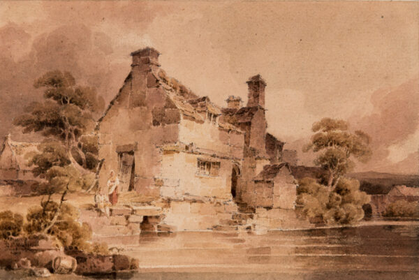 MUNN Paul Sandby (1773-1845) - 'At Dolgelly – Merionethshire' Watercolour.