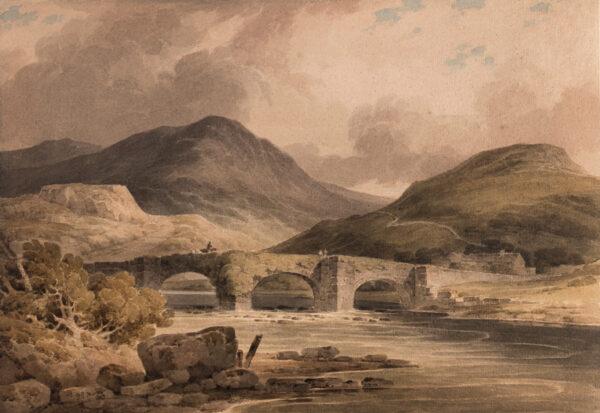 MUNN Paul Sandby (1773-1845) - 'Pont Rhydwrwri (sic) / Vale of Tan y Bwlch – Merionethshire'.