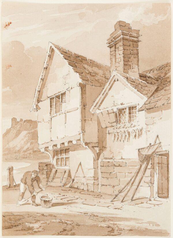 MUNN Paul Sandby (1773-1845) - A fisherman's house.
