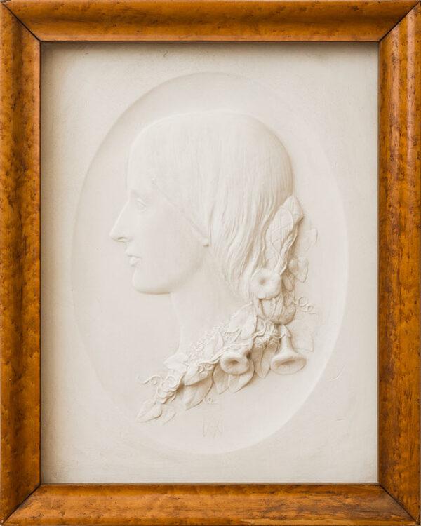 MUNRO Alexander (1825-1871) - The Social Reformer Josephine Elizabeth Butler (1828-1906) Plaster of Paris medallion Circa 1855.