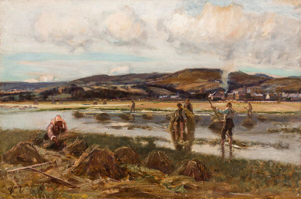 MURRAY Sir David R.A. (1849-1933) - The Reed Cutters.