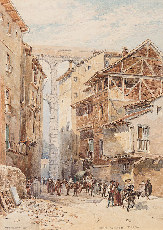 MURRAY Alexander Henry Hallam F.S.A. (1854-1934) - 'Roman Aquaduct, Segovia'.