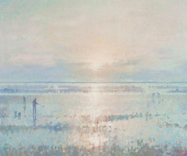 MYNOTT Derek N.E.A.C. (1926-1994) - Sunrise over the lagoon, Venice.