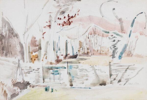 NASH Paul N.E.A.C. L.G. (1886-1946) - 'March Woods, Study 1'.