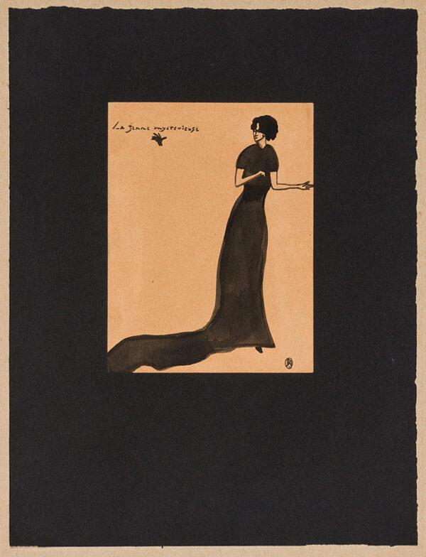 NASH John R.A. C.B.E. (1893-1977) or Paul N.E.A.C. L.G. (1889-1946) - 'La Femme Mysterieuse'.