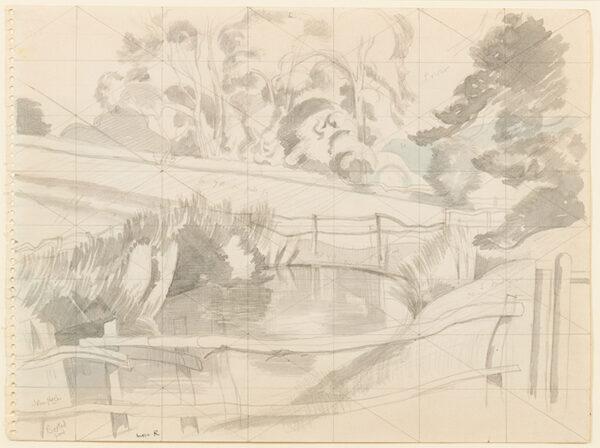 NASH John R.A. (1893-1977) - 'Boxted Pond'.
