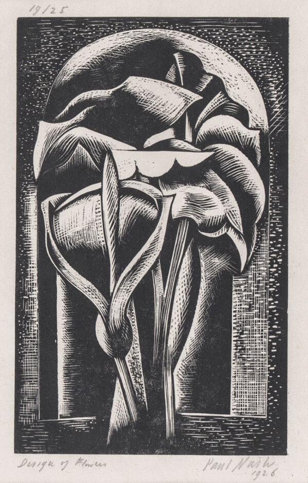 NASH Paul (1889-1946) - 'Design of Flowers' (Postan W75) Wood engraving.