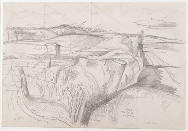 NASH John R.A. (1893-1977) - 'The Deserted Sheep Pen'.