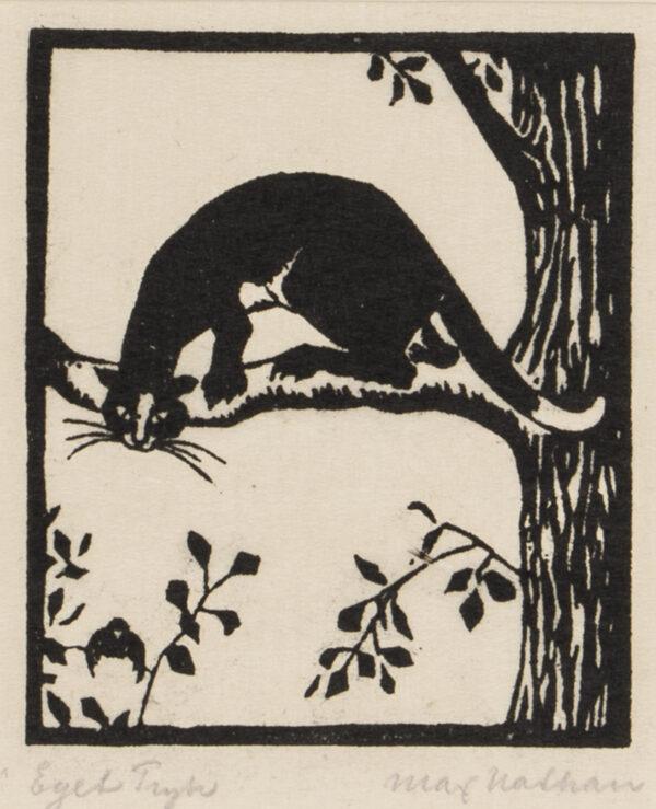 NATHAN Max (Danish 1880-1952) - 'Eget Tryk'.