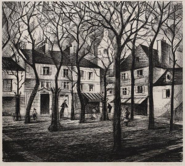 NEVINSON Christopher Richard Wynne (1889-1946) - 'Place du Tertre', Paris.