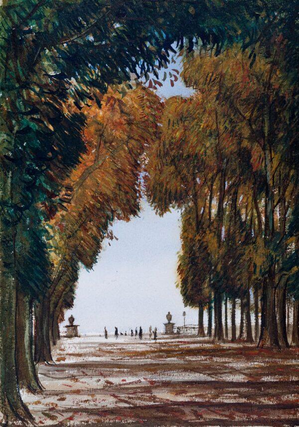 NEVINSON Christopher Richard Wynne (1889-1946) - La Grande Allee, Versailles.