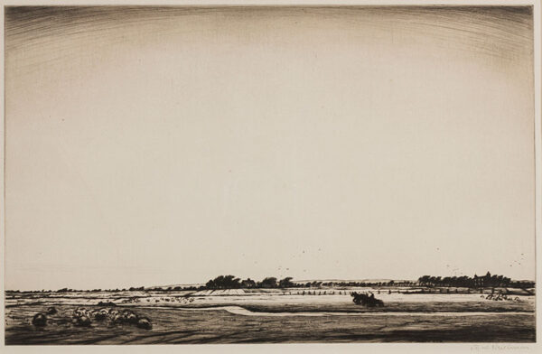 NEVINSON Christopher Richard Wynne (1889-1946) - Romney Marsh.