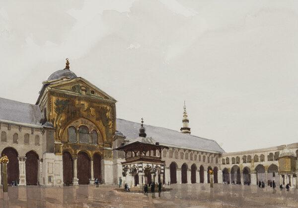 NEWBERRY John R.W.S. (b.1934) - Damascus: the Umayyad ('Great') Mosque.