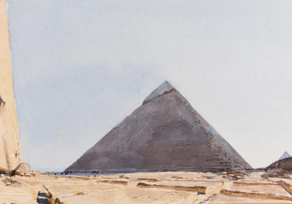 NEWBERRY John R.W.S. (b.1934) - Egypt: 'Pyramid of Kephren with Mycerinus, Giza'.